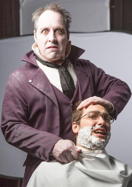 Paul Truckey as the barber Sweeney Todd