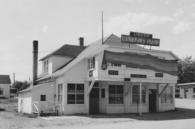 Lumberjack Tavern, as it looked at the time of the murder the film is based on (NMU Archives photo)