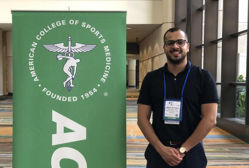 Alaqil at the American College of Sports Medicine annual meeting in Orlando earlier this year.