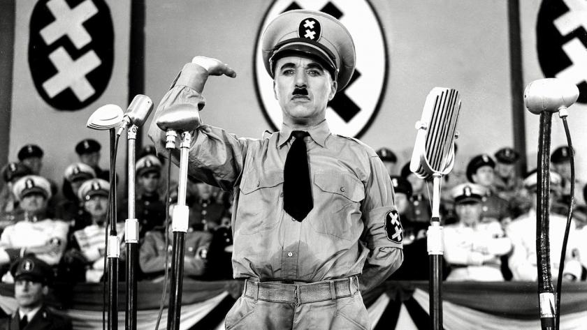 """The Great Dictator,"" which was released in 1940, before the U.S. entered WWII."