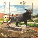 Image of a rendering of the new Wildcat Statue by Hanlon Sculpture Studios
