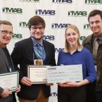 Attending the awards ceremony were (from left): Dwight Brady, Todd Rose, Sarah Jepson and Max Stevens.