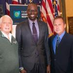 From left: NMU Trustee James Haveman, Lt. Gov. Garlin Gilchrist and NMU alumnus Brian Swift at the Impaired Driving Prevention Month Award Ceremony